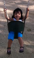Happy Kiddo on a Swing