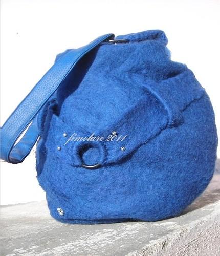 Wet felted Bag