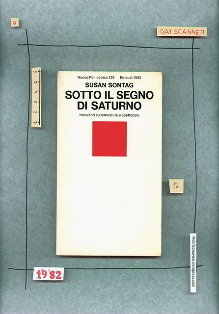 Susan Sontag, Sotto il segno di Saturno. Einaudi 1982. Copertina