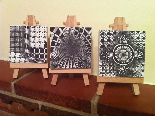 Zentangle mini-canvases by perfectly4med