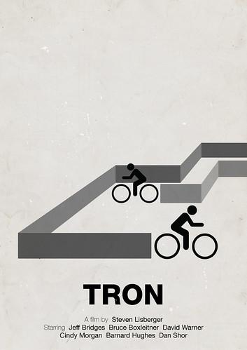 'Tron' pictogram movie poster