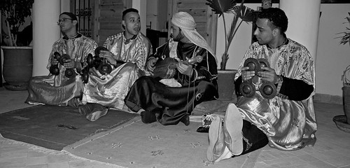 Gnawa musicians in Marrakech