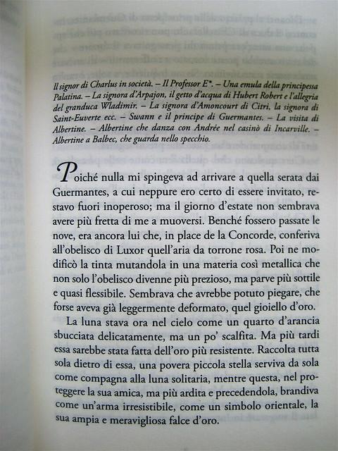 """Marcel Proust, Gelosia, Editori Riuniti 2010; realizzazione editoriale: Clavis, alla cop.: """"La voix du sang, 1961, di René Magritte"""", incipit (part.), 1"""