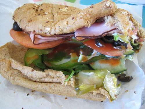 Subway ham sandwich