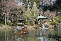 日比谷公園(雲形池の鶴の噴水)