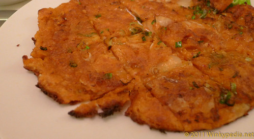 Kimchichun (Kimchi fried Korean pizza with vegetables) at Arang
