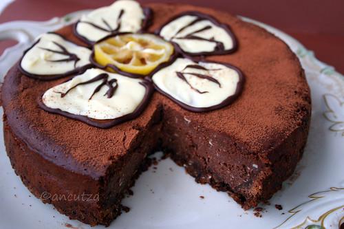 Torta fondente al cioccolato -limone -ricotta- yogurt greco