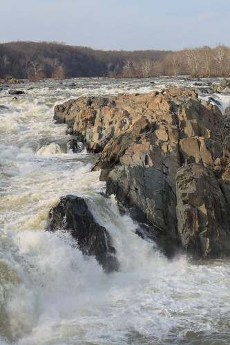 Great Falls National Park - Water and Rocks at Falls