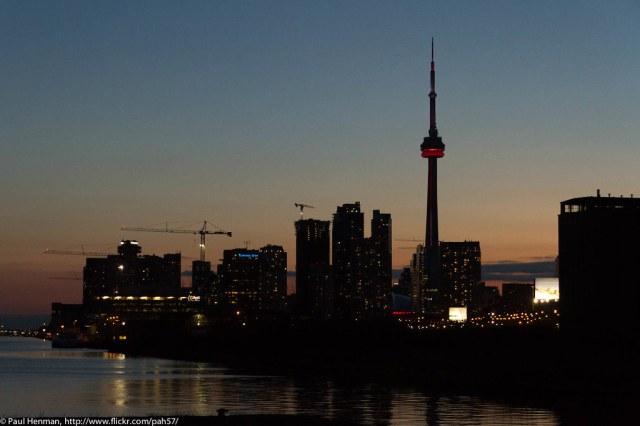 Toronto skyline from Cherry Street