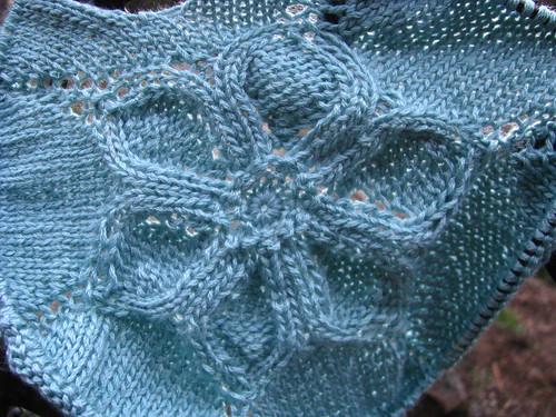 Test Knit:  Flower T-Shirt Seamless Flower Close Up