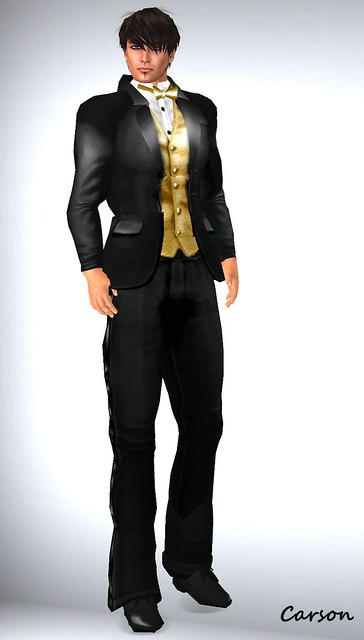 Just BECAUSE Persuasion Gold Tuxedo  Open