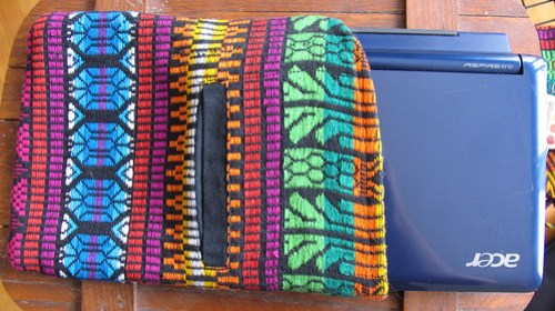 Netbook Case Created from Upcycled African Vest