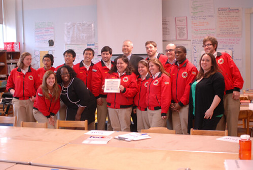 Presenting the President John F. Kennedy Legacy Award to City Year Seattle