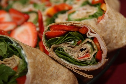 Blissfully Delicious Wraps on Whole Wheat