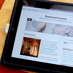 Hey, look -- I'm on an iPad!