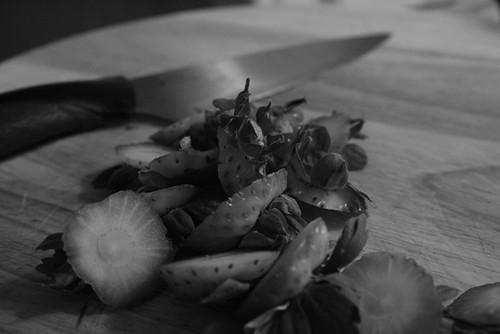 Preparing strawberries 2 {004/365}