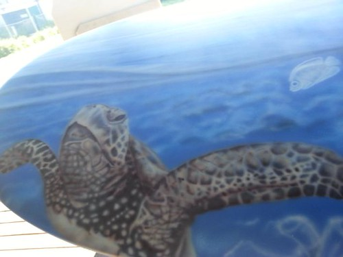surfboard airbrush custompainted