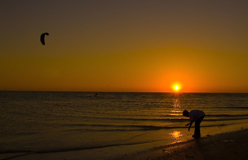 Silhouette of my Son-Lido Beach-Sarasota