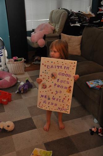 Her classmates made her a going away card!