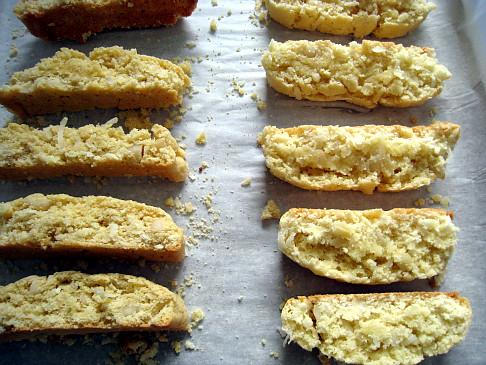 Coconut Macadamia Nut Biscotti - twice baked cookies