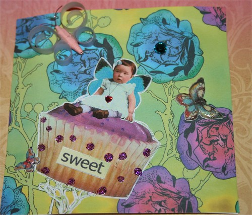 "Sweet Cupcake 4"" x 4"" Collage card"