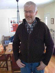 Dad, wearing my first-ever adult Sweater