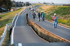 CRISIS JAPON 2011 - Carreteras destrozadas por el terremoto