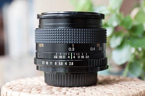 Marexar 28mm f/2.8 (enfoque a 0,3 m)