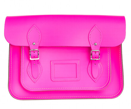 Cambridge Satchel fluorescent pink