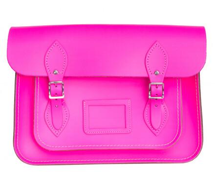 Cambridge Satchel fluorescent pink