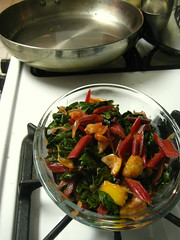 chard with orange pieces