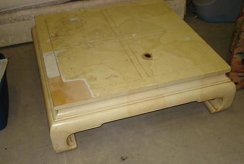 old pagoda coffee table