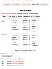 Manage marking