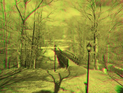 Middle Tyger Bridge MG Anaglyph