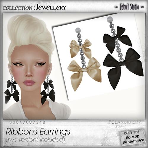 [ glow ] studio Ribbons Earrings