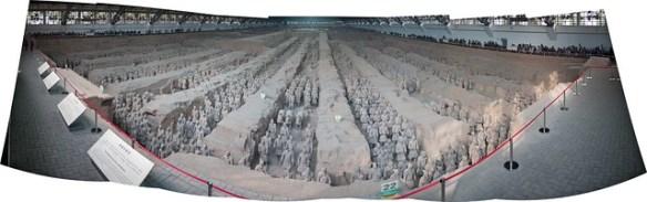 Terracotta Warriors in Xi'an - panorama