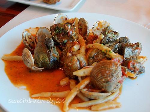 Shellfish with pasta