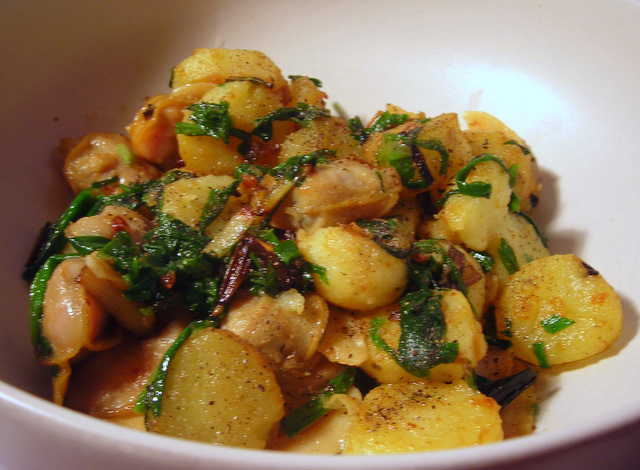 """Clams, ramps and potatoes"""