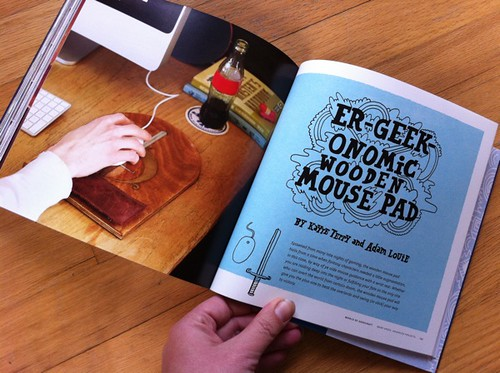 Er-Geek-Onomic Wooden Mouse Pad by Adam Louie + Kayte Terry