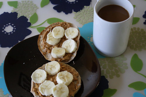 pb, banana, coffee
