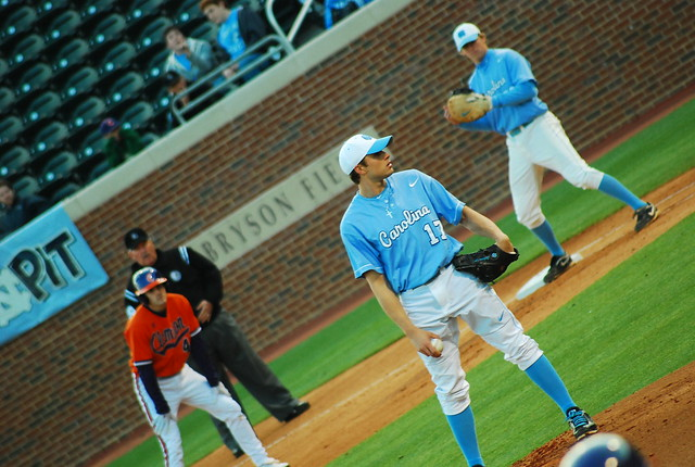 college baseball: clemson @ unc, game 1