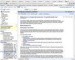Google reader and EDED20491 feeds