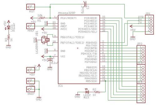 JeonLab mini v1.0 eagle schematic