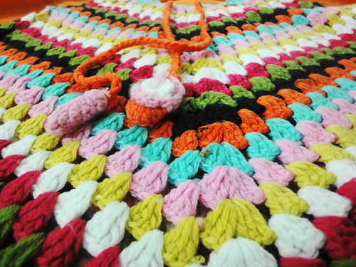 Multicolor Crochet Poncho by Amrita Sharma