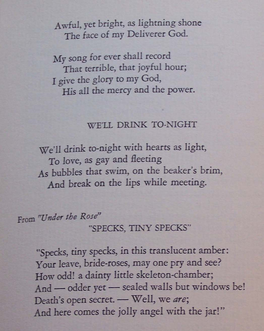 Herman Melville, Collected Poems Textseite