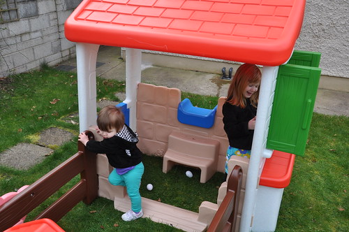 Playing in the new playhouse
