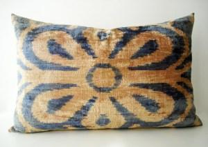 sukan silk velvet suzani pillow cover