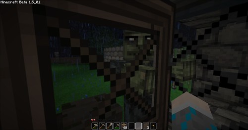 Minecraft - Mr Zombie in The Rain