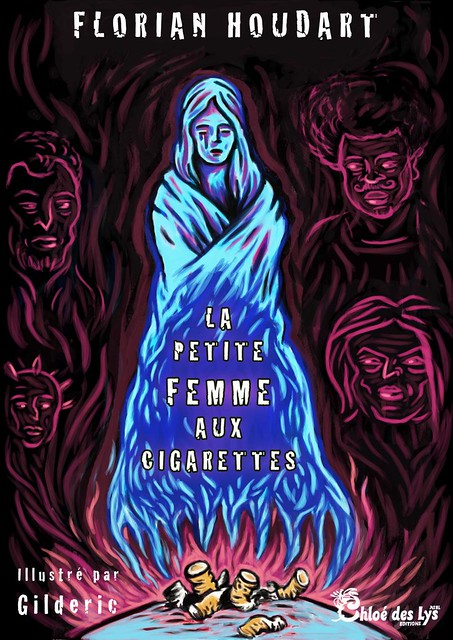 La Petite Femme aux cigarettes (couverture) - un roman de Florian Houdart, illustré par Gilderic