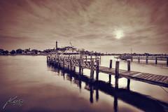 Jupiter Lighthouse Marina Gloomy Day